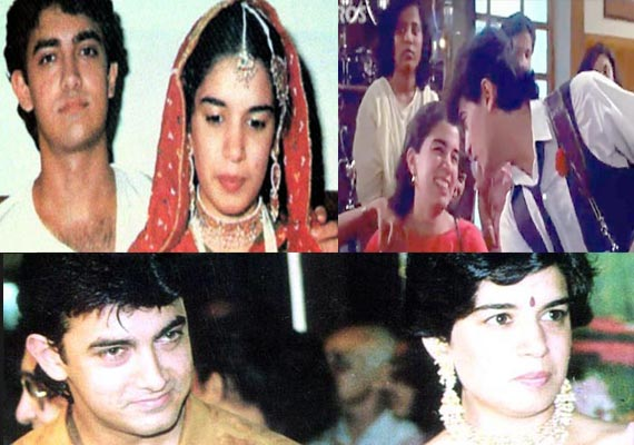 Rare pictures of Aamir  Khan with his first wife Reena