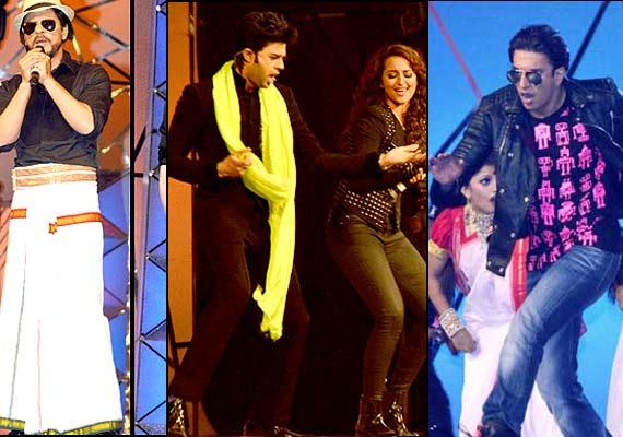 Shah Rukh Khan, Sonakshi, Ranveer's electrifying performances at Umang ...