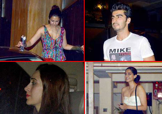 Karishma, Sonam, Arjun paid visit to Kareena at her residence (watch pics)