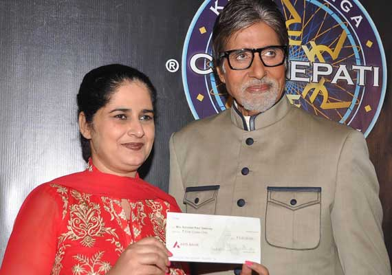 'KBC 6' gets it Rs.5 cr winner, Big B admires Sunmeet Kaur