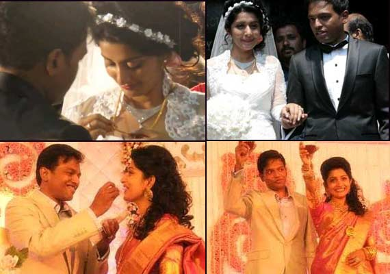 Actress Meera Jasmine's complete wedding album