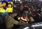 Watch: Shah Rukh protects son AbRam as crowd mobs them outside toy store