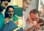 Dharmendra's adorable pic with Ahana Deol's son Darien out!