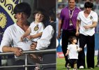 Cuteness overloaded: SRK's son AbRam mimics dad's trademark pose! (see photo)