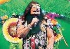 Ram Rahim entertains followers in Gurgaon