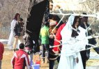 Spotted: Katrina Kaif shooting for 'Fitoor'