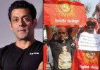 Tamilians protest against Salman Khan for supporting Sri Lankan President