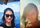 Sonakshi Sinha sunbathes in bikini in Maldives
