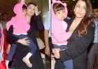Aishwarya Rai Bachchan and daughter Aaradhya return from Cannes (see pics)
