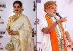Rekha and PM Modi named hottest Indian vegetarian celebs