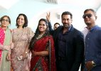 Salman Khan suits up for sis Arpita Khan wedding reception, gets warm welcome in Himachal (see pics)