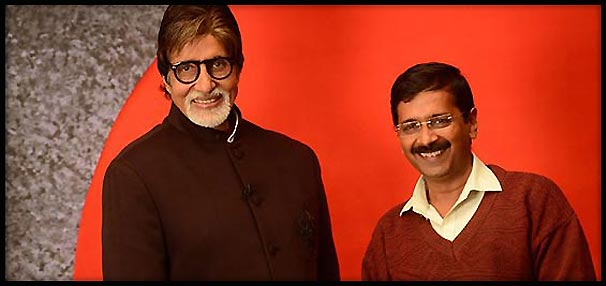 Amitabh Bachchan and Arvind Kejriwal come face-to-face at media conclave (view pics)