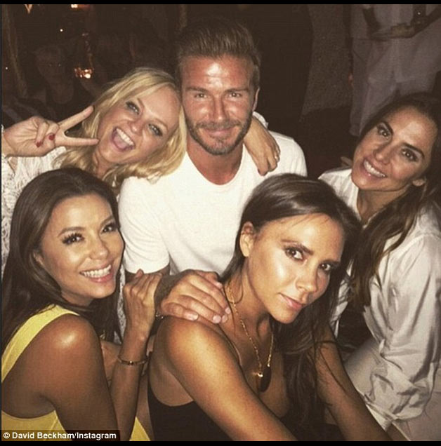 David Beckham birthday party