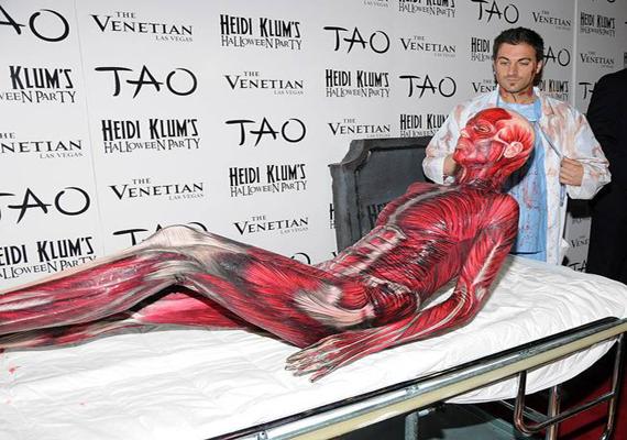 Heidi Klum Dresses As Dead Body At Annual Halloween Party