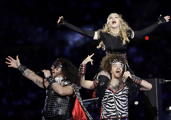 L.M.F.A.O Rocks The Super Bowl With Madonna