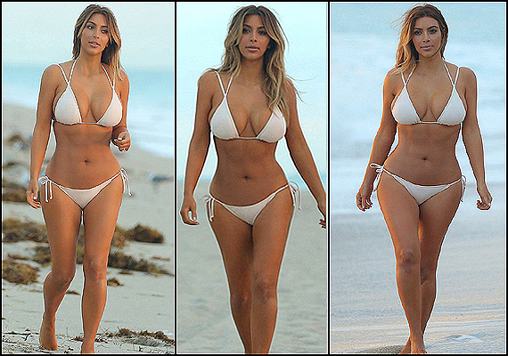 Kim Kardashian gets back into shape, flaunts her body in a bikini