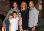 Rare appearance: Julia Roberts poses with family