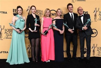 'Birdman' tops SAG Awards, Redmayne upsets Keaton