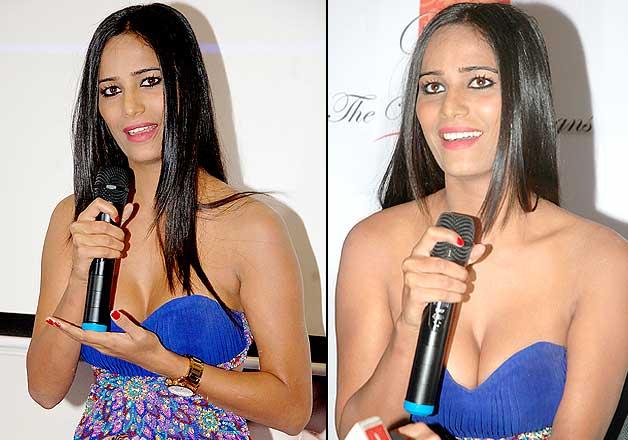 Poonam Pandey Hot Blue Dress Latest Pics