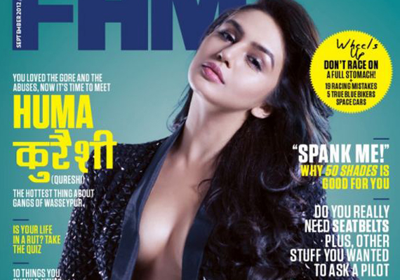 Huma Qureshi superhot on the cover of FHM Magazine