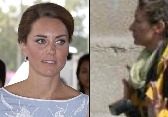 Kate was sunbathing on terrace in full view of the road, says  French photographer
