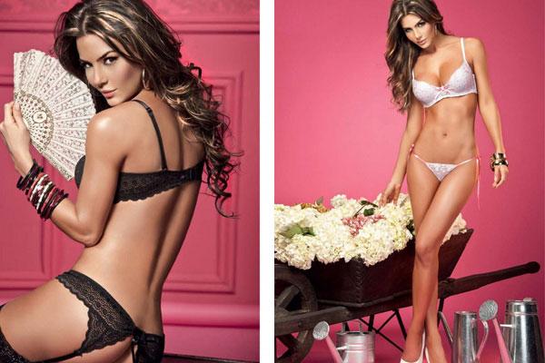 Model Natalia does a sensuous lingerie photo shoo