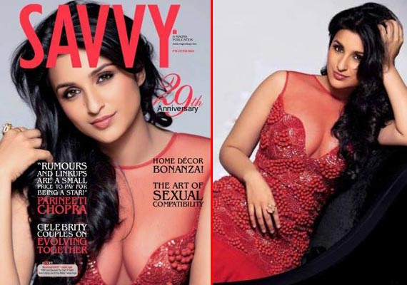 Parineeti Chopra flaunts cleavage for Savvy cover (watch pics)