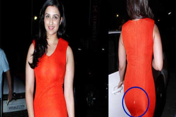 Parineeti Chopra suffers wardrobe malfunction