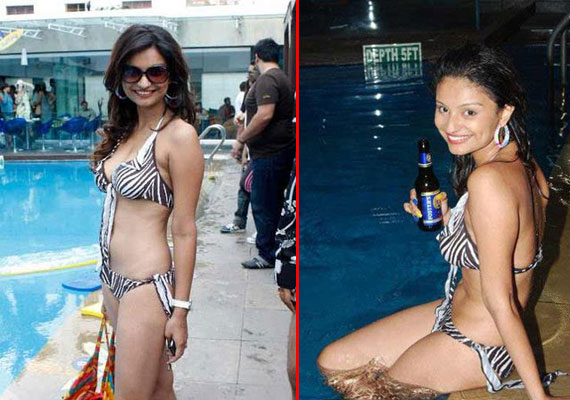 Rahul Mahajan's wife Dimpy sizzles in a hot bikni