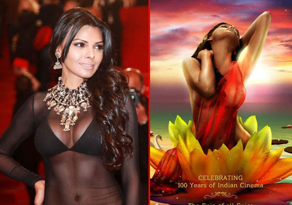 Sherlyn Chopra unveils new poster of  'Kamasutra 3D' at Cannes