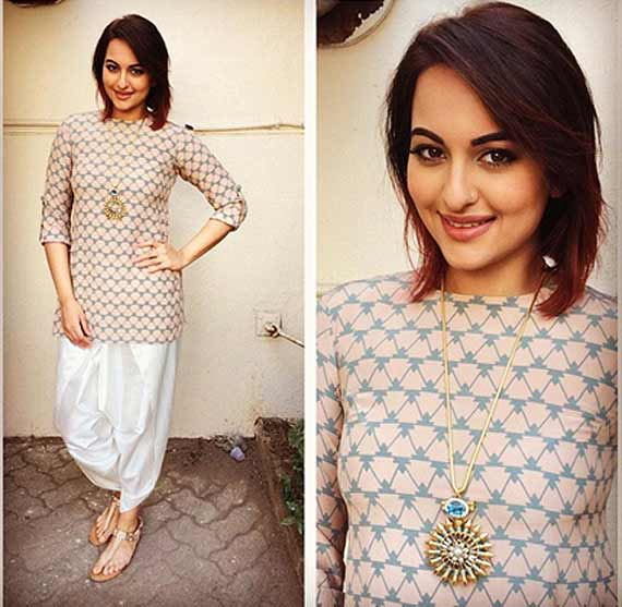 Sonakshi Sinha All Fashionably Creative During Tevar Promotions See Pics Lifestyle News