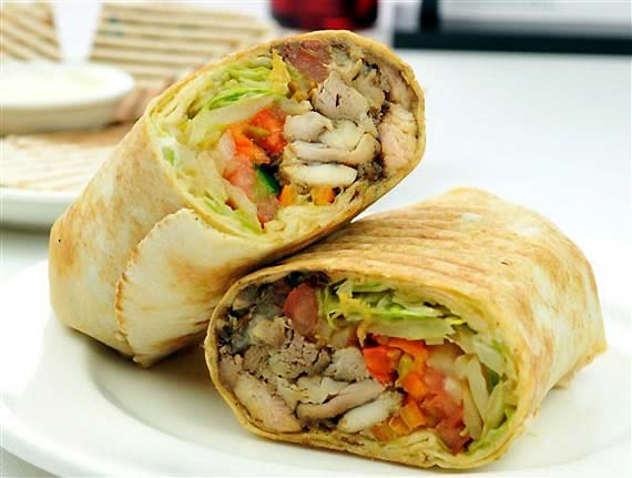 variety of rolls and wraps