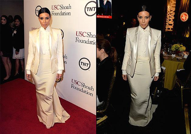 Kim kardashian formal dress white