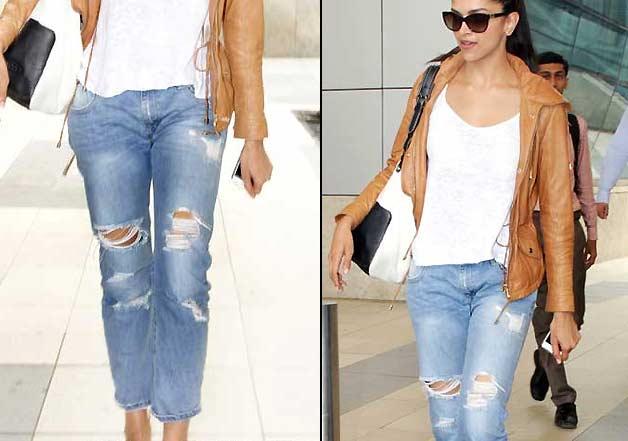 deepika padukone in ripped jeans