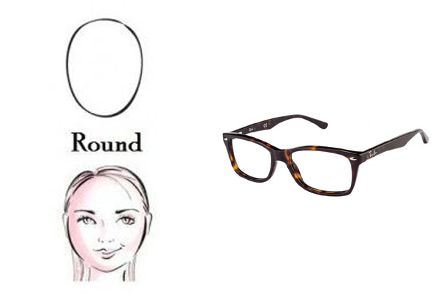 What Is The Best Eyeglass Frame For A Round Face : photo sources. ray ban sunglasses for a round face ...