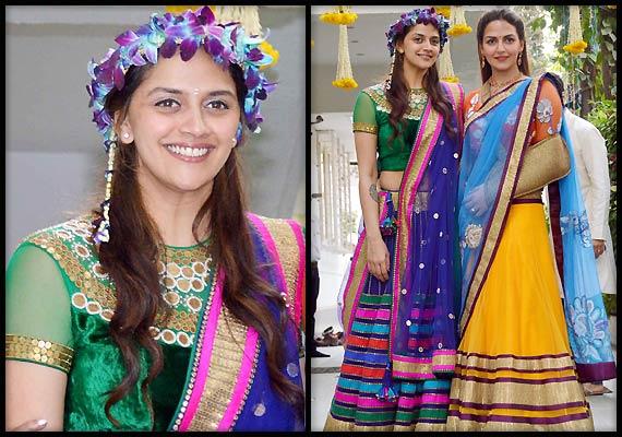 Ahana Deol wedding: Deol sisters sizzle in Neeta Lulla creation at mehendi ceremony