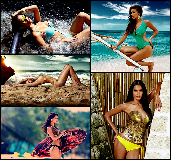 Beauties of Kingfisher Swimsuit Calendar 2014 (view pics)