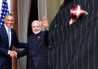 Modi's latest style: Suit with his own name stripes