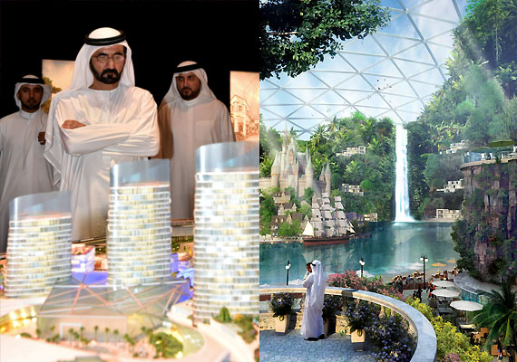 World s largest mall with theme park 100 hotels and for World biggest hotel in dubai
