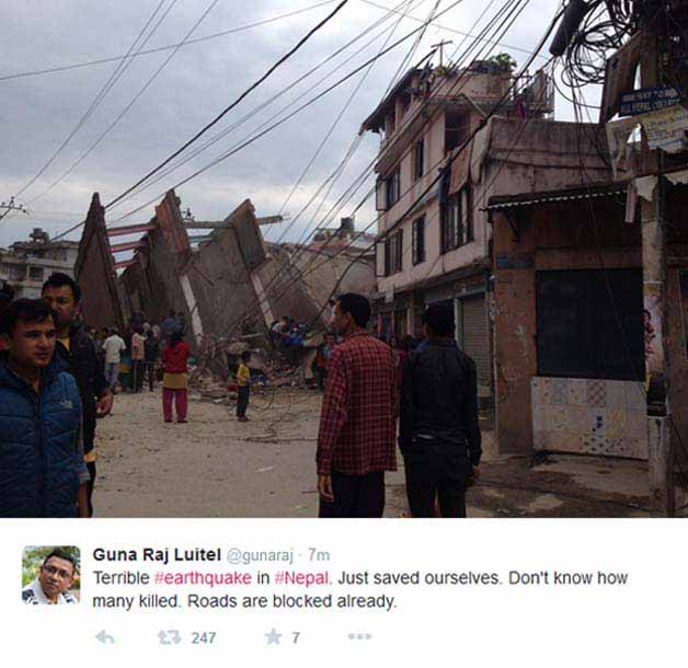 Nepal earthquake first picture