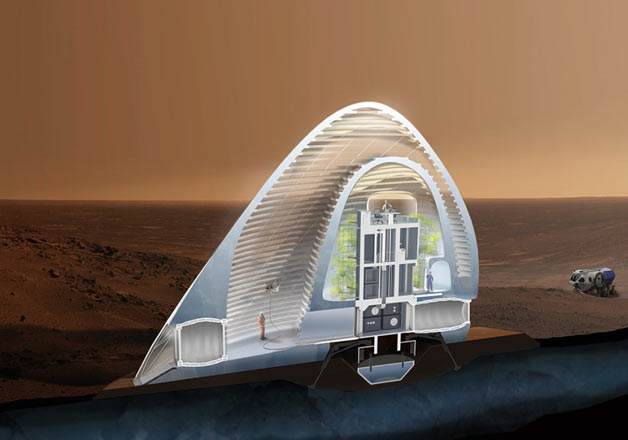 Imagine home on mars ice shelter design wins nasa award for Nasa architecture
