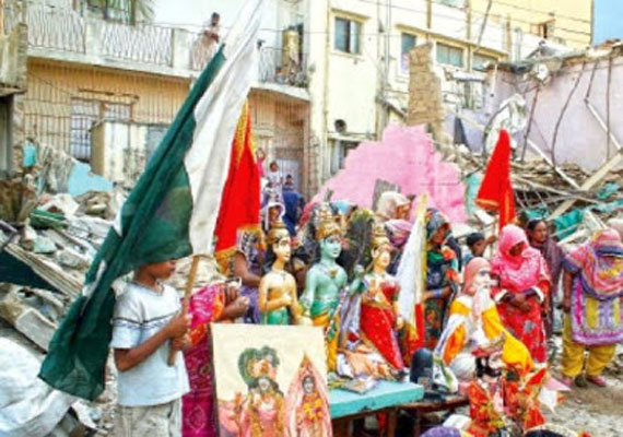 Century-old Rama Pir temple demolished in Karachi, Hindus protest