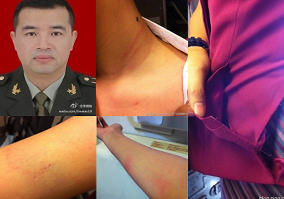 Chinese official suspended for beating air stewardess