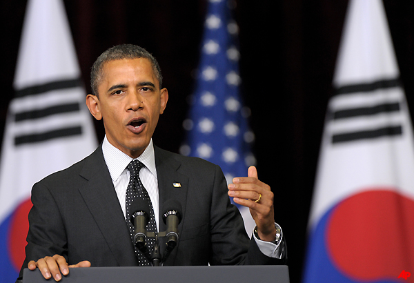 Obama Urges NKorea To 'Pursue Peace'