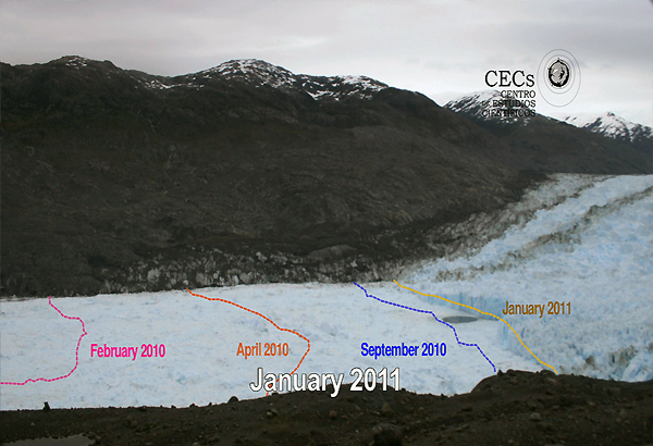 Rapid Retreat Of Chile Glacier Captured In Images