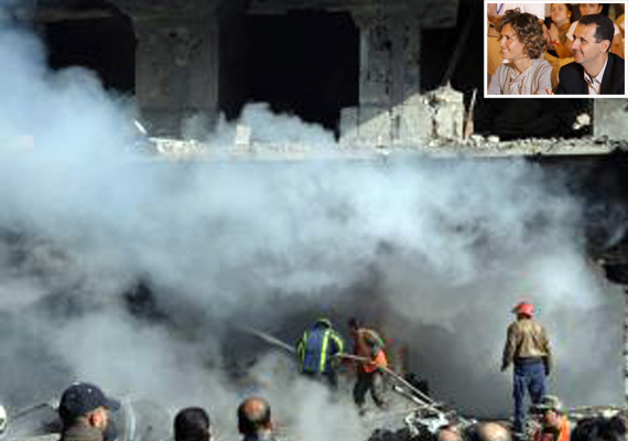Syria Troops Bomb Towns, EU Grounds First Lady