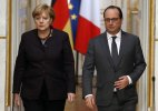 Angela Merkel Francois Hollande vow to fight terrorism