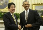 Japan's PM goes to US to showcase close ties