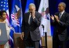 Barack Obama bids farewell again to Attorney General Eric Holder