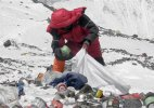 Human waste left by climbers polluting Mount Everest